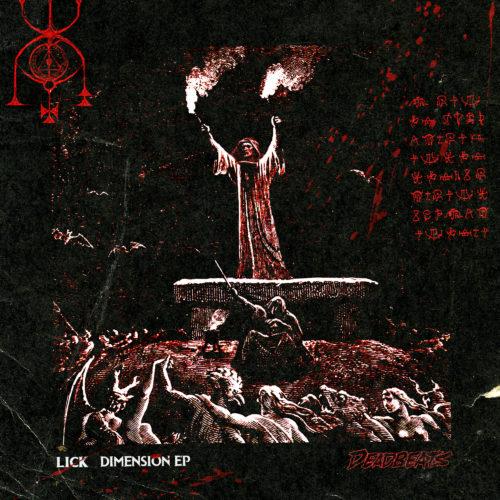 Deadbeats - Lick - Dimension EP Cover